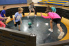 The portable Gaga Ball Pit is perfect for schools, churches and childcares who need an active game that can be set up in minutes!