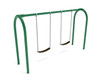 1-Bay Arched Swing with 2-belt seats, chains, hardware-  shown in Rainforest Green