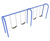 2-Bay Arch Swing in Pacific Blue