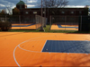The Defender Court is 25' x 25' is perfect for schools, gyms and parks!