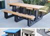 Park Place Picnic Table with Color Slats