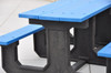 Park Place Table in Blue Top and Black Base