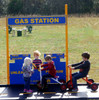 Gas Station for pretend play in Blue and Yellow