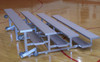 The 2 Row Tip N' Roll Standard bleachers tip and roll away for easy storage!