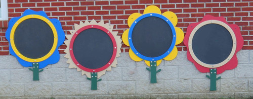 The colorful flowers can be mounted on a wall