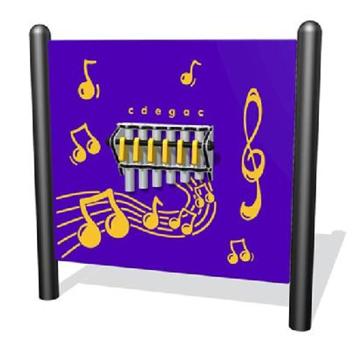 Add music to any outdoor playground with our Freestanding Chimes Panel!