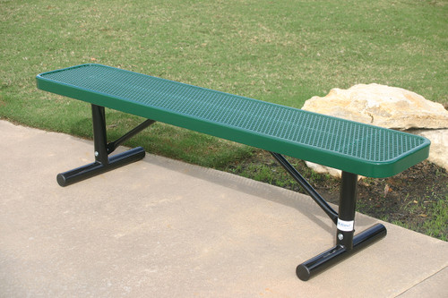 6' Player's Bench without back (Portable mount shown)
