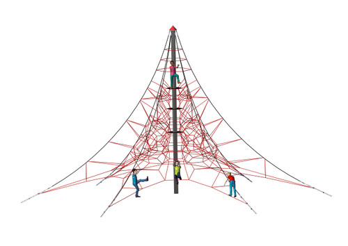 Spider Pyramid 8-6 is the biggest Spider Pyramid offered by NetPlay