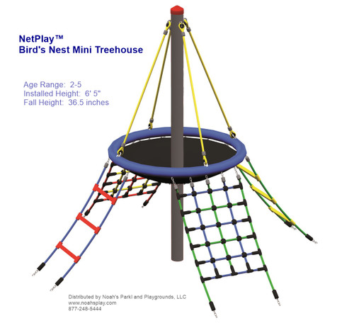 Bird's Nest Mini Treehouse is designed for ages 2-5