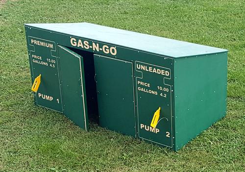 A Gas-N-Go by day and trike storage by nite