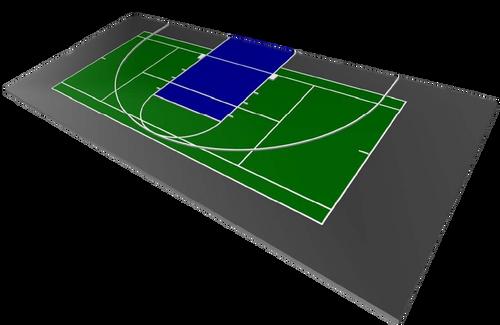 FlexCourt Gladiator 30x60 Multi-Game Court- Basketball & Tennis