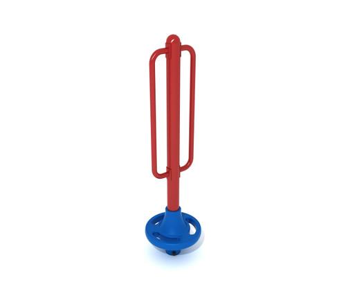 Freestanding Pod Climber - 1 Pod- Brick Red Post/Rail & Pacific Blue Plastic