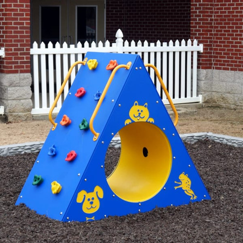 Climbing Wall with Tunnel - Primary Color Scheme