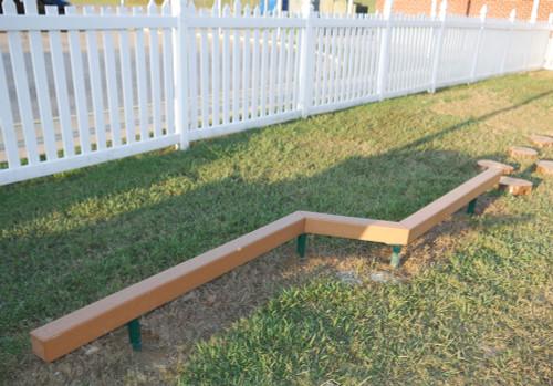 Infinity Playgrounds Balance Beam Zig Zag