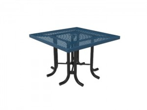 MyTCoat Square Patio Table - Expanded Metal