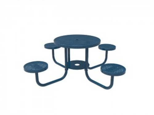 MyTCoat Round Patio Table with Round Seats - Punched Steel