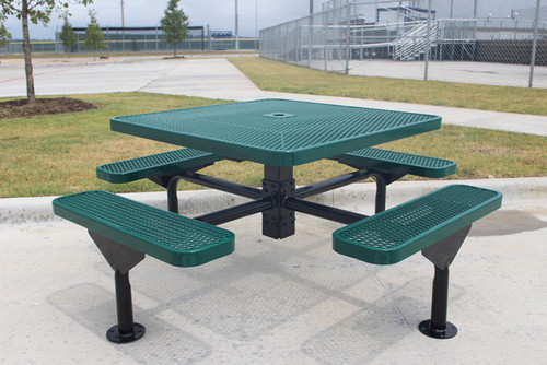 "MyTCoat 46"" Square Nexus Pedestal Table"