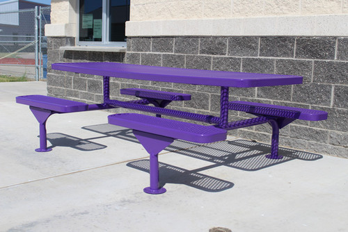 MyTCoat 8' Rectangular Nexus Pedestal Table