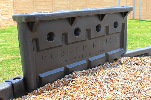 """Border Bench with 12"""" Border Timbers and Engineered Wood Fiber"""