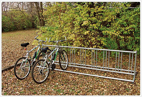 5ft double permanent option holds up to 9 bikes