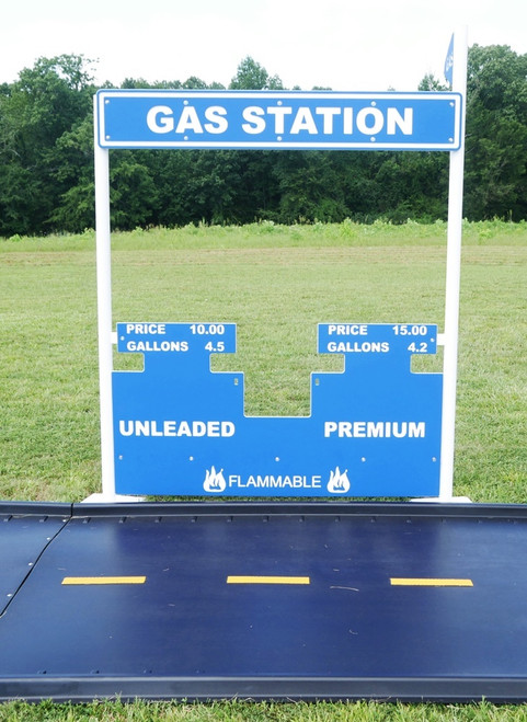 Fill'er Up with the Gas Station in Blue and White