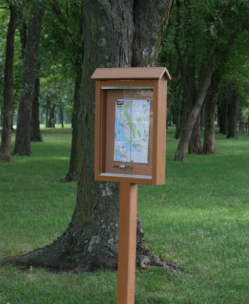 Outdoor Message Board 1-side, 1-post