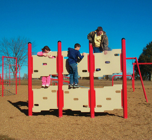 The parallel climber is perfect for those with limited playground space