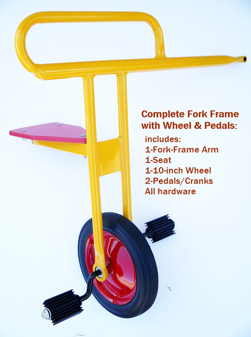 Complete Fork-Wheel-Pedal assembly