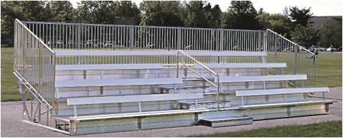 Superior series bleachers are perfect for comfort!