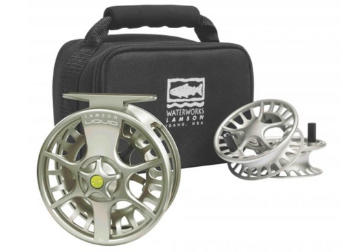 The Liquid 3-Pack includes one Liquid reel and two spare spools in a nylon carrying case all for the price of one reel and one spool. Liquid offers everything you need in a fly reel at an absolute bang for your buck—and this new combo pack opens up easy interchangeability for the multifaceted angler at even more of an extreme value.
