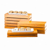 """Crate Riser, 20""""W x 7""""D x 3""""H, rectangle, flip to utilize as a basket, bamboo"""