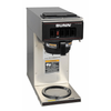 13300.0001  VP17-1 Coffee Maker, pourover type, brews 3.8 gallons per hour capacity, (1) lower warmer, plastic funnel, stainless decor, 120v/60/1-ph, 13.3 amp, 1600 watts, NEMA 5-15P, cord attached, UL, NSF