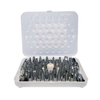 Cream Nozzle Set, 52-piece, includes storage box, a standard coupler and (2) metal flower nails, rust resistant, stainless steel