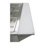 """Cutting Board, 57-1/4""""W x 9""""D x 1""""H, with stainless steel shelf, polycarbonate"""