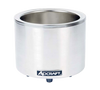 Food Cooker/Warmer, electric, countertop, base only, 11 qt. capacity converts to 7 qt., manual temperature control knob with 0°F - 212°F temperature range, includes adapter ring, stainless steel construction, 120v/60/1-ph, 10 amps, 1200 watts, NEMA 5-15P, CE, UL, UL-Sanitation