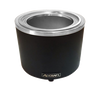 Food Cooker/Warmer, electric, countertop, 11 qt. capacity converts to 7 qt., manual temperature control knob with 0°F - 212°F temperature range, includes adapter ring, stainless steel interior liner with matte black finish, non-slip bakelite feet, 120v/60/1-ph, 10 amps, 1200 watts, NEMA 5-15P, CE, UL, UL-Sanitation
