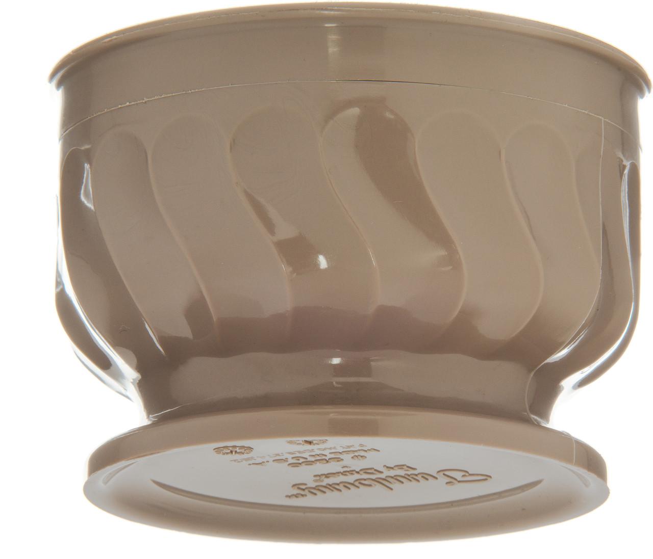 Pedestal Base Bowl, 9 oz., insulated, Turnbury®, latte (48 each per case) (3300/31)