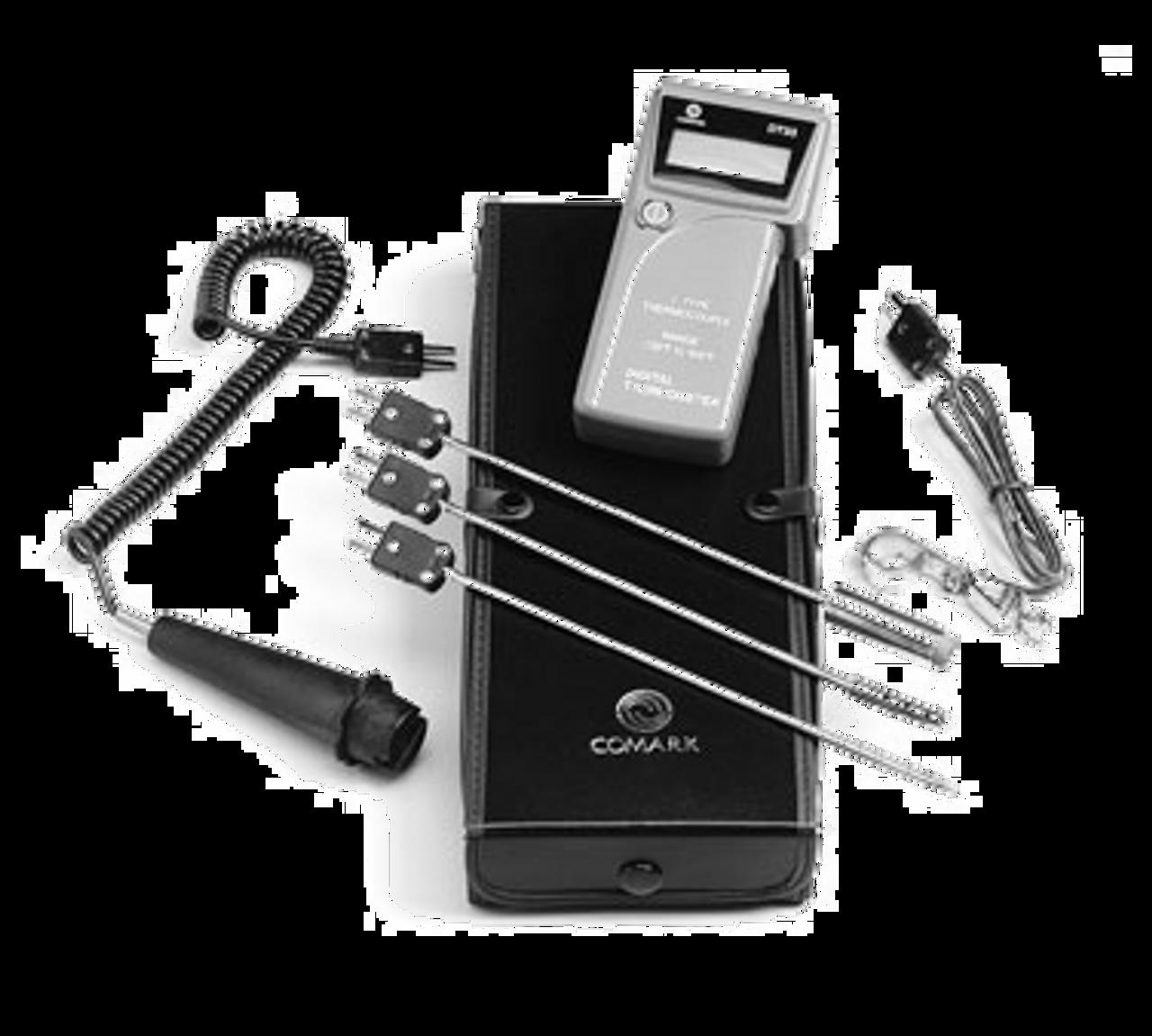 Combination Probe Kit, digital, hand-held, type J, temperature range -125 to 500°F, interchangeable probes, water resistant, includes ATT19/39/40/41/42 probes & AC33 case