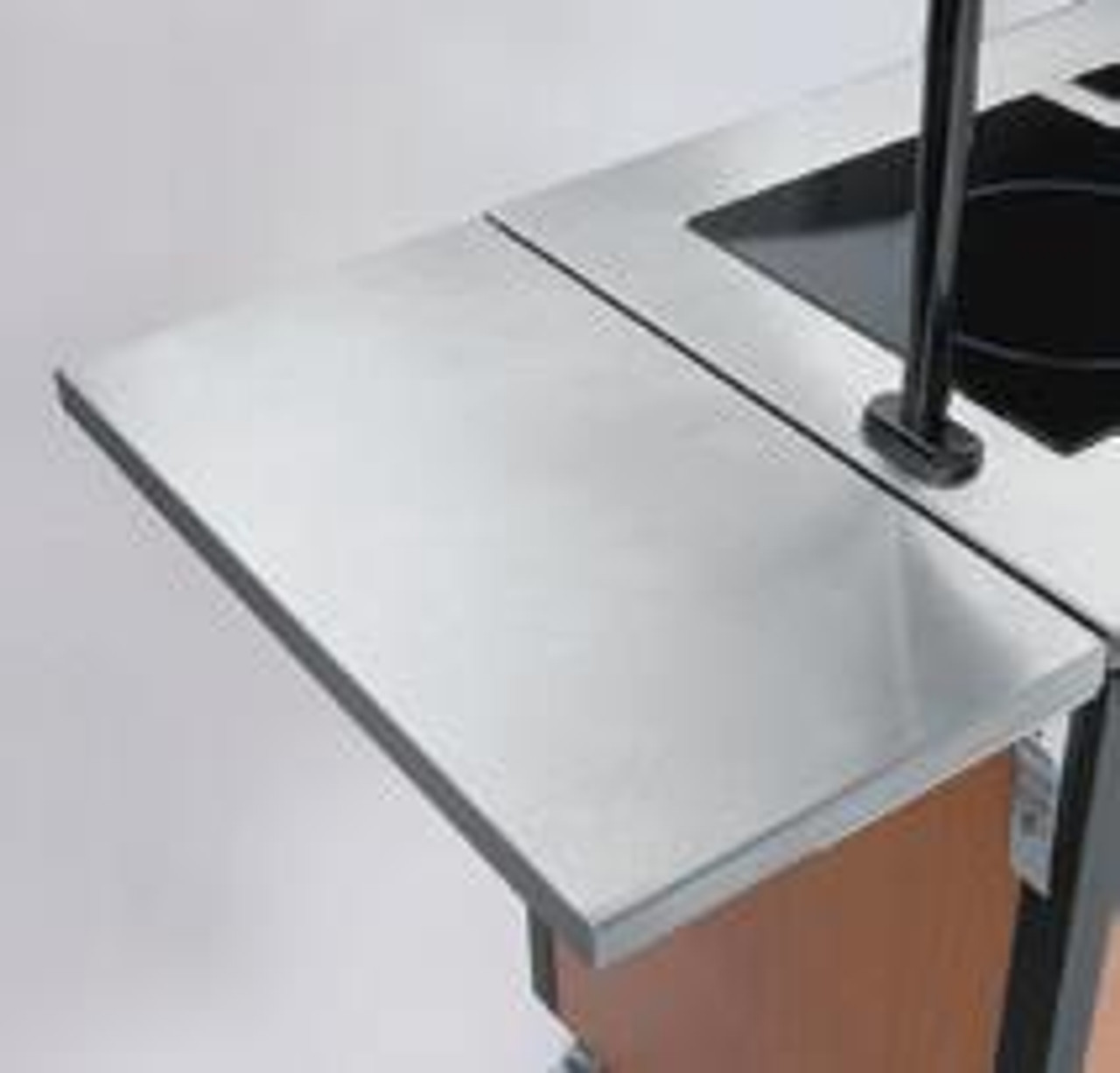 Creation Express™ Station Mobile Cooking Cart. Shown with optional Fold-Shelf.