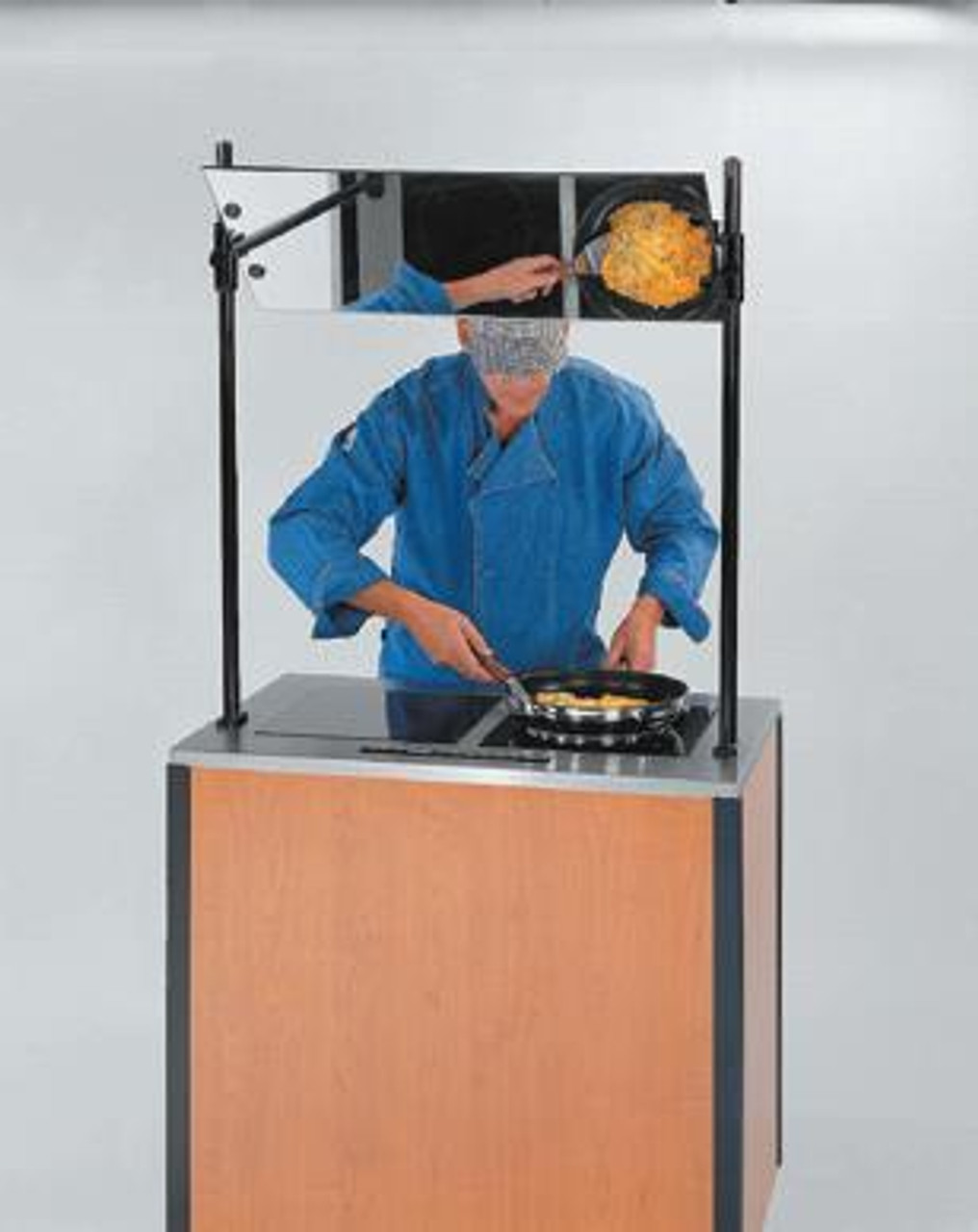 MODEL 2075 Creation Express™ Station Mobile Cooking Cart. Shown with optional Demonstration Mirror.