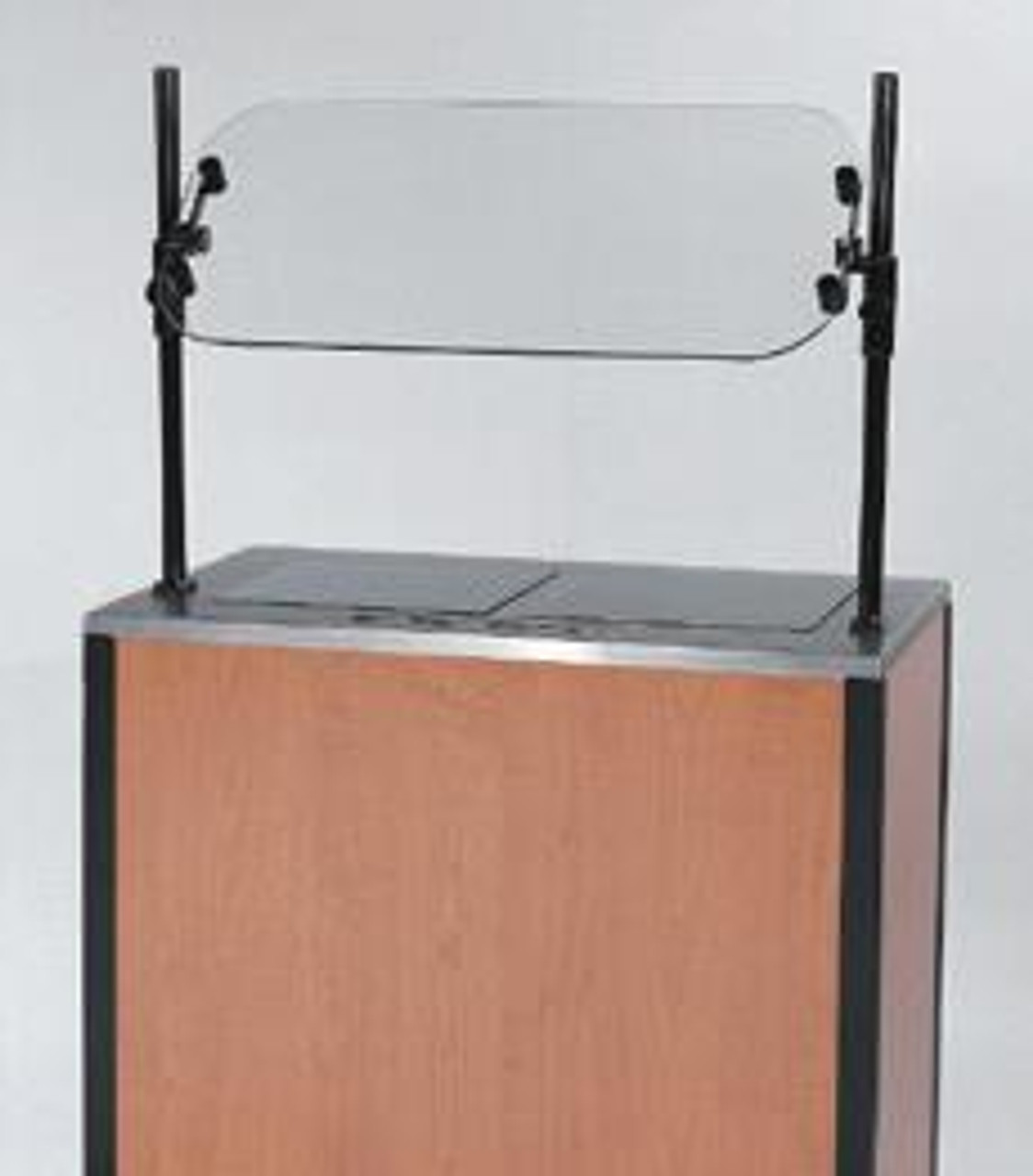 MODEL 2075 Creation Express™ Station Mobile Cooking Cart. Shown with optional Breath Guard