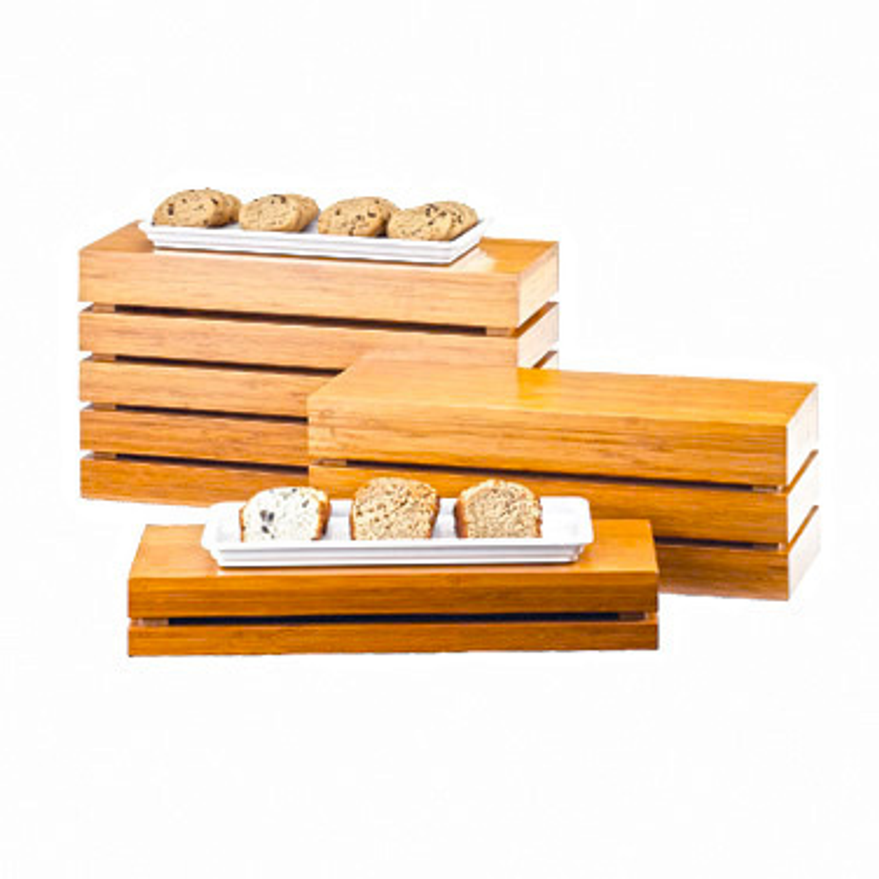 """Crate Riser, 20""""W x 7""""D x 11""""H, rectangle, flip to utilize as a basket, bamboo"""