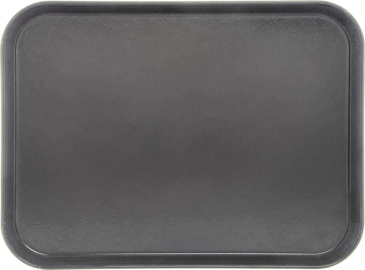 "Tray, 15"" x 20"", size M, flat, fiberglass, graphite grey (12 each per case)"