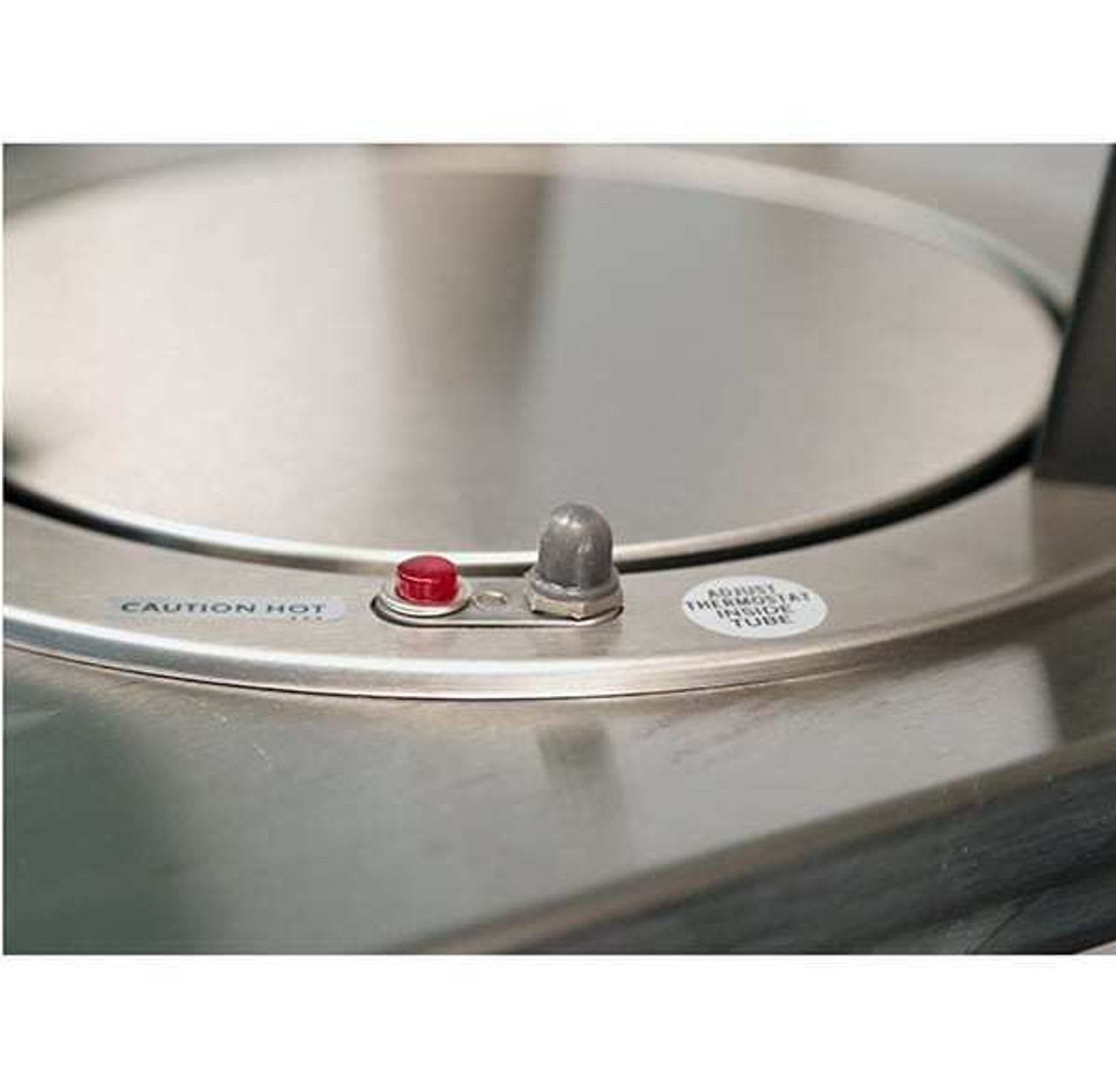 """Dish Dispenser, heated, cabinet style, enclosed base, mobile, (2) self-leveling dish dispensing tubes, 8-1/4"""" to 9-1/8"""" diameter dish size, stainless steel construction, 4"""" Lake-Glide® swivel casters (2) with brakes, 6' coiled cord with NEMA 5-15P, NSF, UL, Made in USA"""