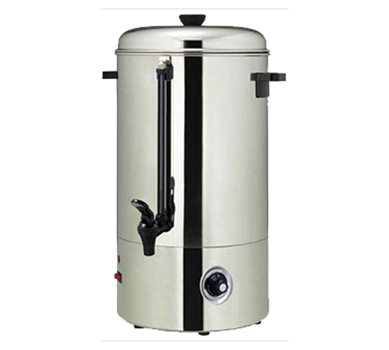 Water Boiler, electric, 100 cup capacity, bottom mounted controls, double handled, stainless steel construction, 120V/60/1-ph, 11.25 amps, 1350 watts, NEMA 5-15P, NSF, ETL-Sanitation, cETLus, CE