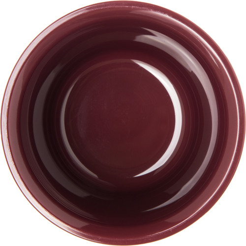 Fenwick Bowl, 5 oz., insulated, double wall construction, ozone-safe urethane foam insulation, sculpture design, dishwasher safe, cranberry, Made in USA, BPA Free (48 per case)