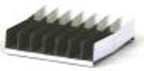Removable tray rack slants in the center and has a perforated bottom for efficient drainage.