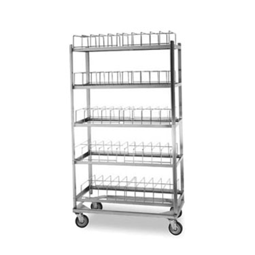 """Dome Drying Rack, (5) shelf, 100 dome capacity, stainless steel, 5"""" swivel casters, NSF, Made in USA"""