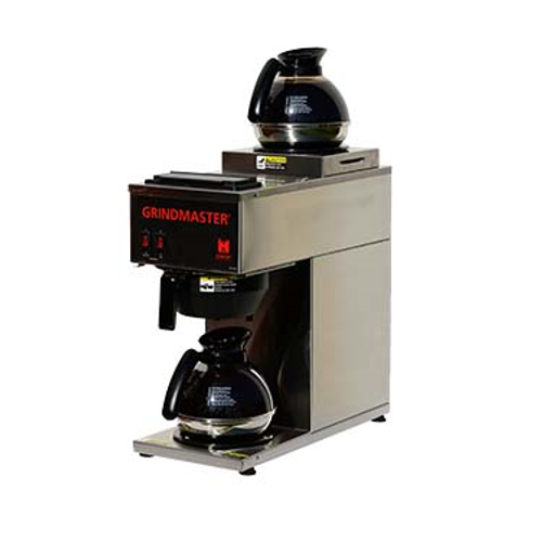 GRINDMASTER Portable Pourover Coffee Brewer, manual fill, single brewer for decanters (decanters sold separately), (2) in line warmers (1 upper, 1 lower), 1.2 gal (4.5L) tank capacity, temperature-controlled, requires no plumbing, stainless steel construction, 120v/60/1-ph, 1600 watts, 15.0 amps, cord & NEMA 5-15P, NSF, cNSFus-Electrical