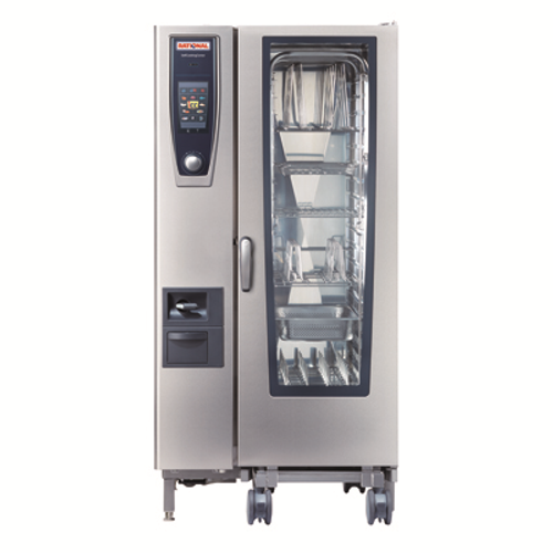 """(SCC 201 E 208V) SelfCooking Center® Combi Oven/Steamer, electric, (20) 13"""" x 18"""" half size sheet or (20) 12"""" x 20"""" full size hotel pan capacity, iCookingControl with 7 modes, HiDensityControl®,iLevelControl, Efficient CareControl, Combi-Steamer with 3 modes, core temp probe with 6 point measurement, hand shower with automatic retracting system, mobile oven rack included, ethernet interface, 208v/60/3-ph, 105.6 amps, 38.0 kW, 7' cord, (dual voltage: retrofitable to 240v/60/3-ph, 121.8 amps, 38.0 kW), cULus, NSF, ENERGY STAR®"""